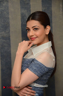 Actress Kajal Agarwal Latest Stills at Khaidi No 150 Movie Interview  0051.JPG
