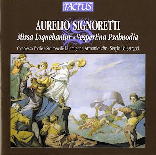 Signoretti: Missa Loquebantur - Vespertina Psalmodia