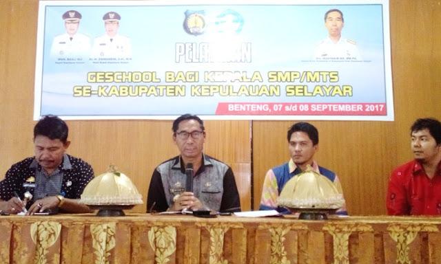 Kadis Dikbud, Buka Pelatihan, Geschool, Tingkat SMP/MTS