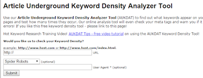 Article Underground Density Analyser tool