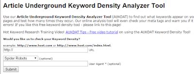 Article Underground Density Analyser tool