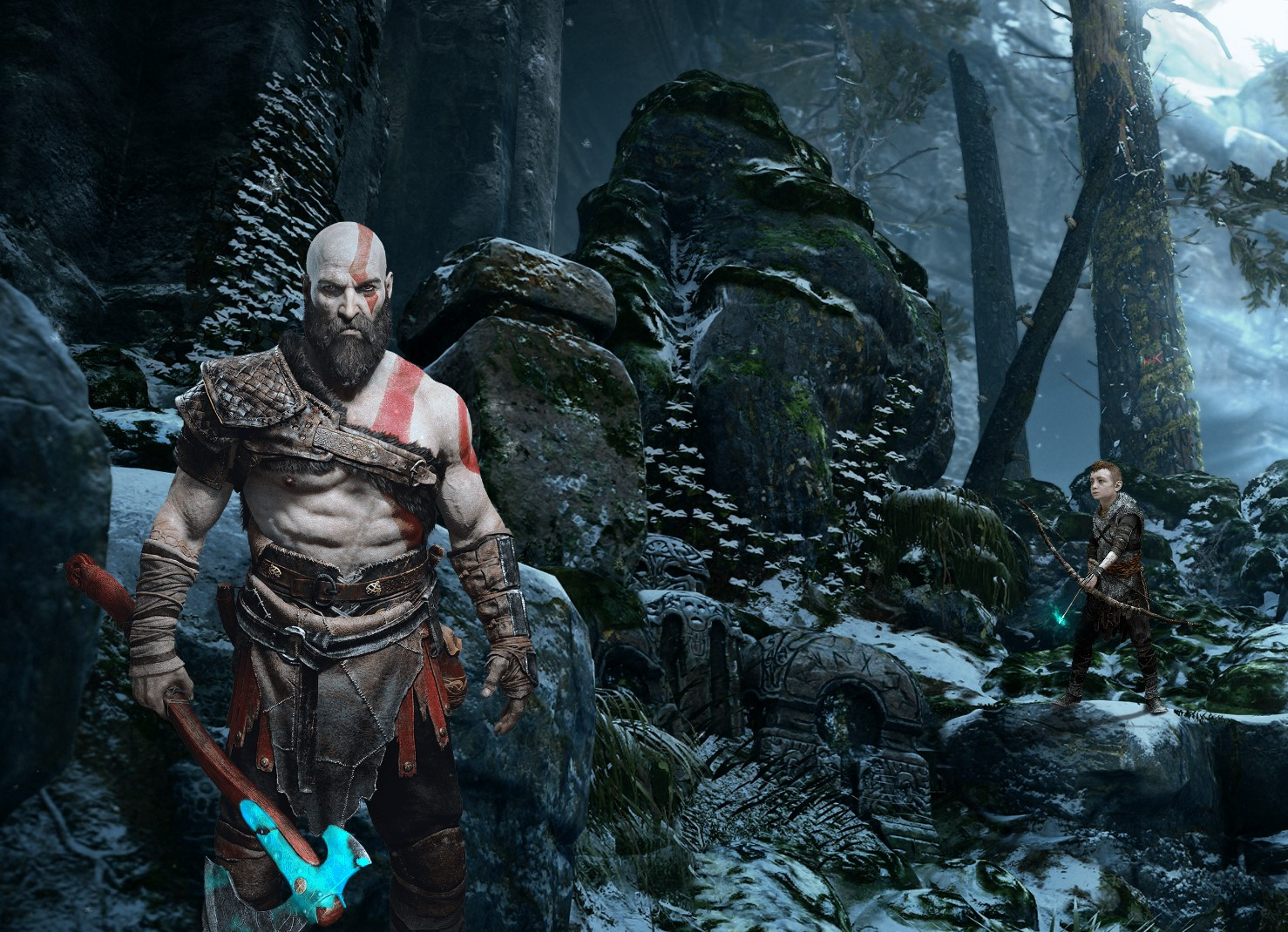 God Of War Kratos And Boy 4k Live Wallpapers Free Download