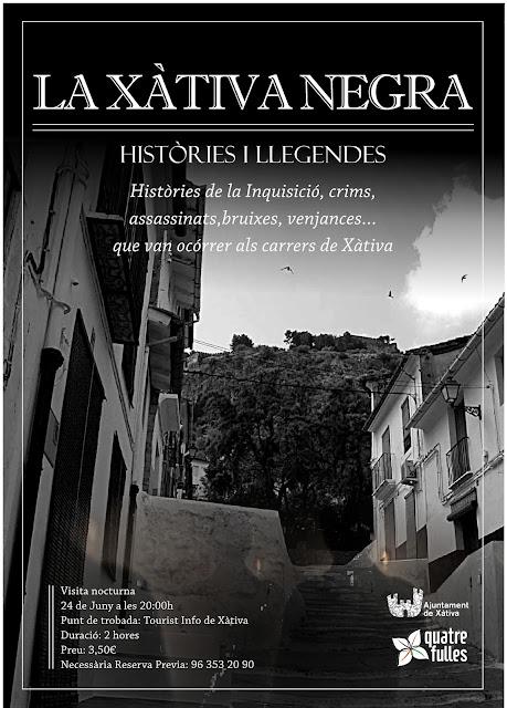 visita nocturna Xàtiva