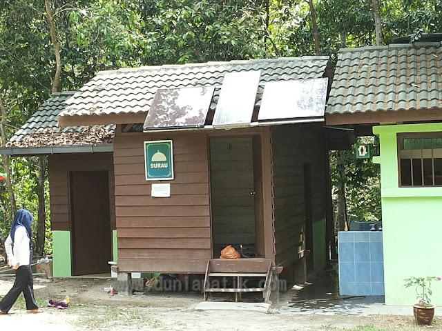 Kemudahan ruangan solat dan tandas untuk pengunjung