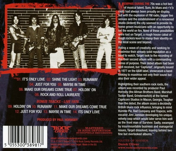 TARGET (Jimi Jamison) - Captured [Rock Candy remastered +6] (2016) back