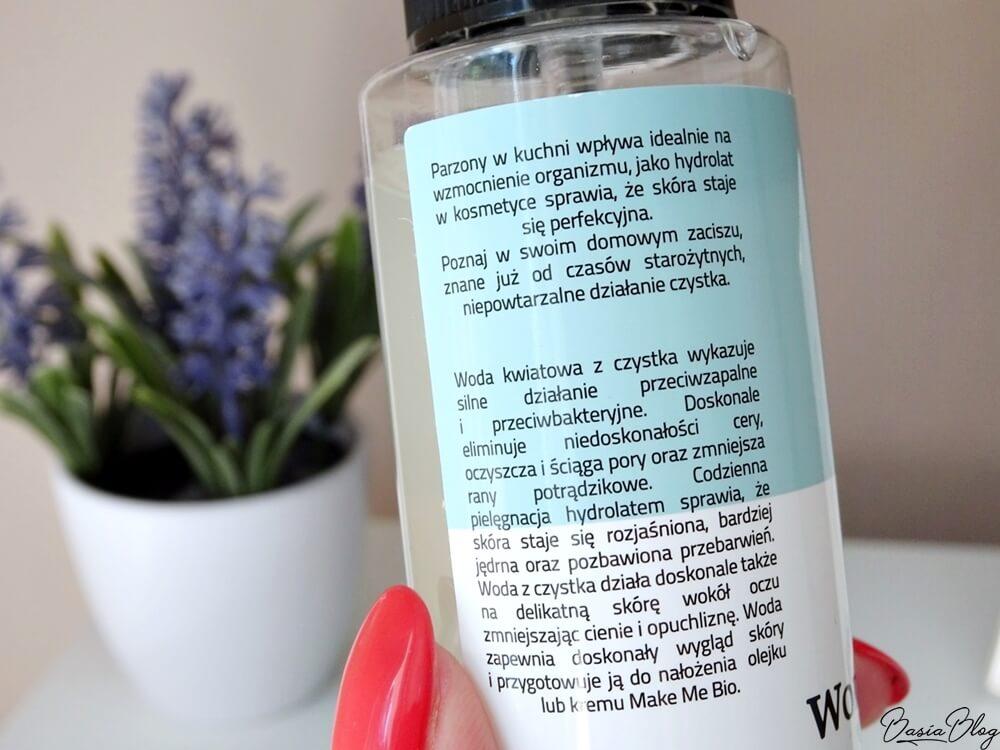 Make Me Bio, woda z czystka, tonik do skóry trądzikowej, tonik oczyszczający, tonik regulujący wydzielanie sebum