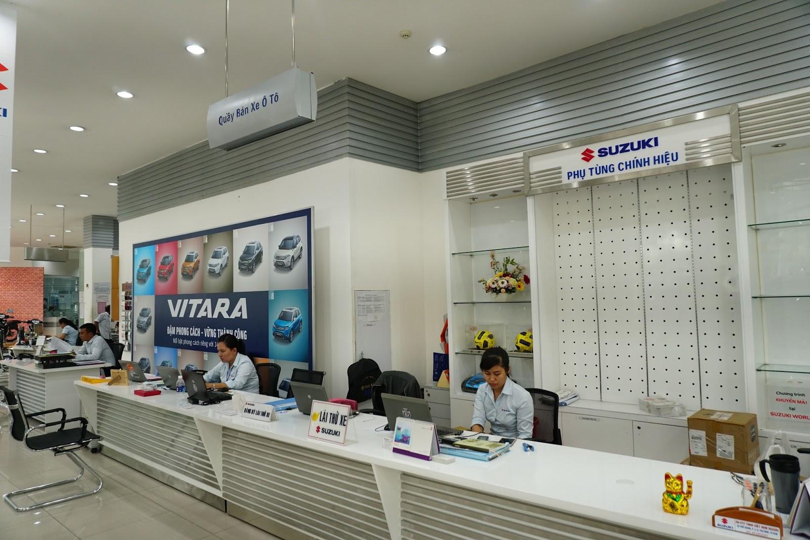 Khu vực tư vấn, chăm sóc khách hàng của Suzuki World