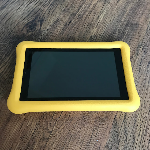 Yellow Kindle Fire Tablet for Kids