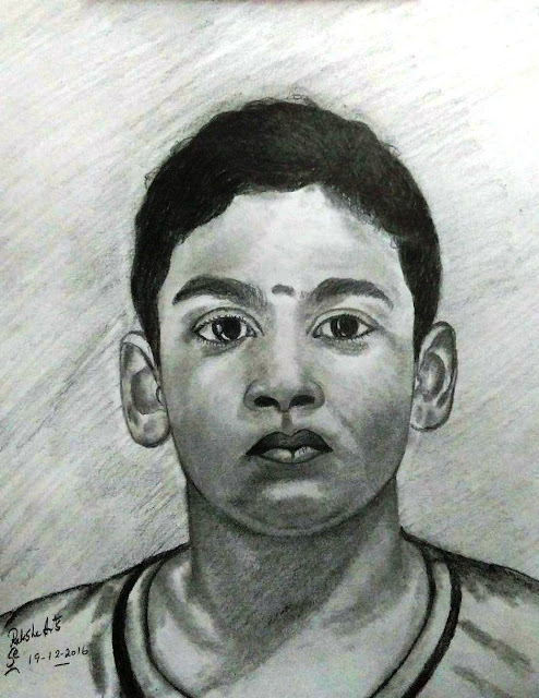 PENCIL DRAWING BOY - 19-12-2016
