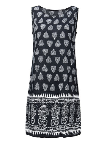 Vestido estampado negro New Chic