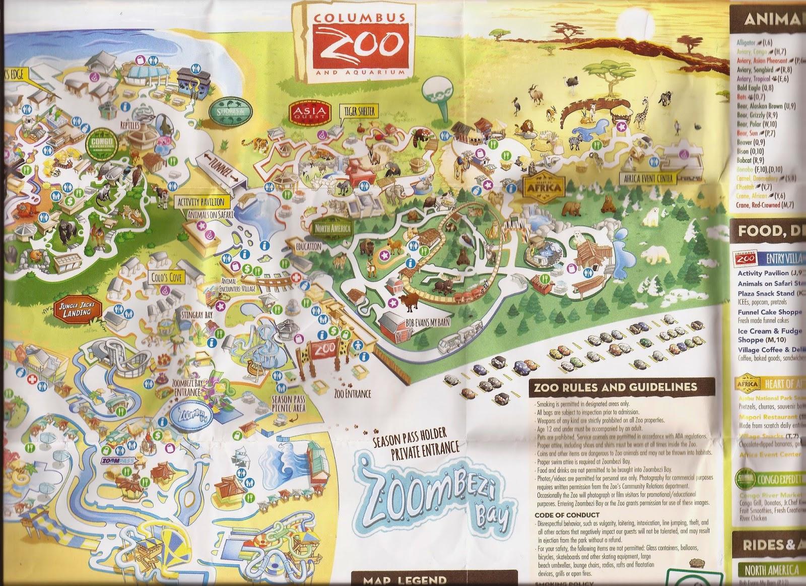 Columbus Zoo Map Zoo Tails: Columbus Zoo Map 2015 Columbus Zoo Map