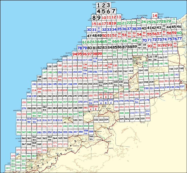 Cartes du Maroc 1 / 50 000