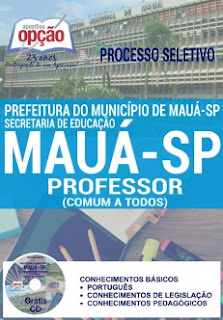 Apostila Prefeitura de Mauá concurso Secretária de Educação Professor I e Professor II (Comum a Todos os Cargos).