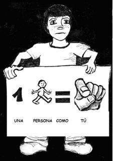 Qué es el autismo. Niño con cartel. Una persona como tú