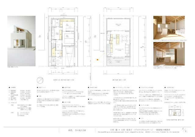 シンプルな輪郭が内包する納屋のような居心地の良い住まい 平面計画 外観・内観イメージ