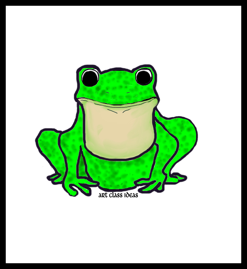 draw a frog art class ideas