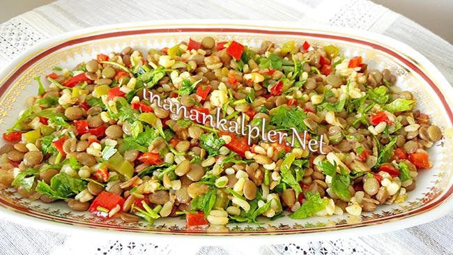 Bulgurlu Mercimek Salatası Tarifi -www.inanankalpler.net