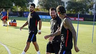 برشلونة يستعد لمواجهة ريال مدريد في كلاسيكو الأرض الأحد المقبل