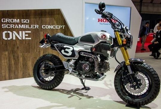 Honda Grom 50 Scrambler, Motor Café Racer Impian