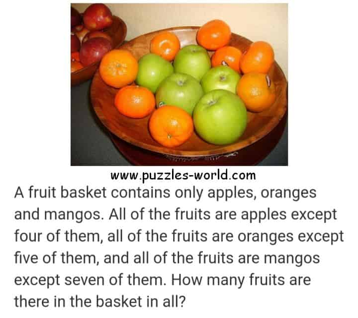 Apples Oranges and Mangoes Puzzles