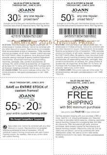 Joann coupons for december 2016