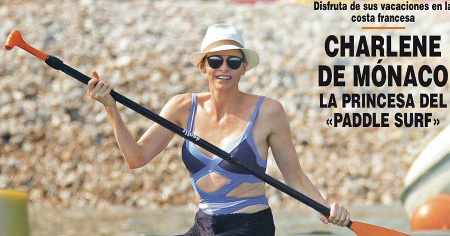 f81e2e6b24 Princess Charlene in Agent Provocateur Swimsuit