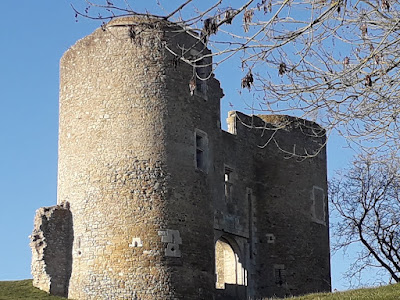 Remains of Chateau de Levroux in Indre,France