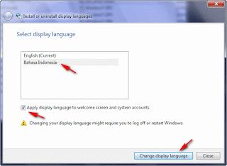 Cara Mengubah Windows 7 Vista menjadi bahasa Indonesia