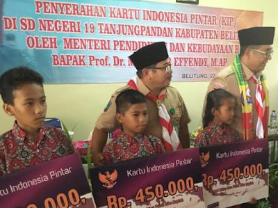 Distribusi KIP di Belitung Capai 91 Persen