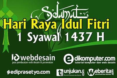 download desain banner idul fitri 1437 H gratis