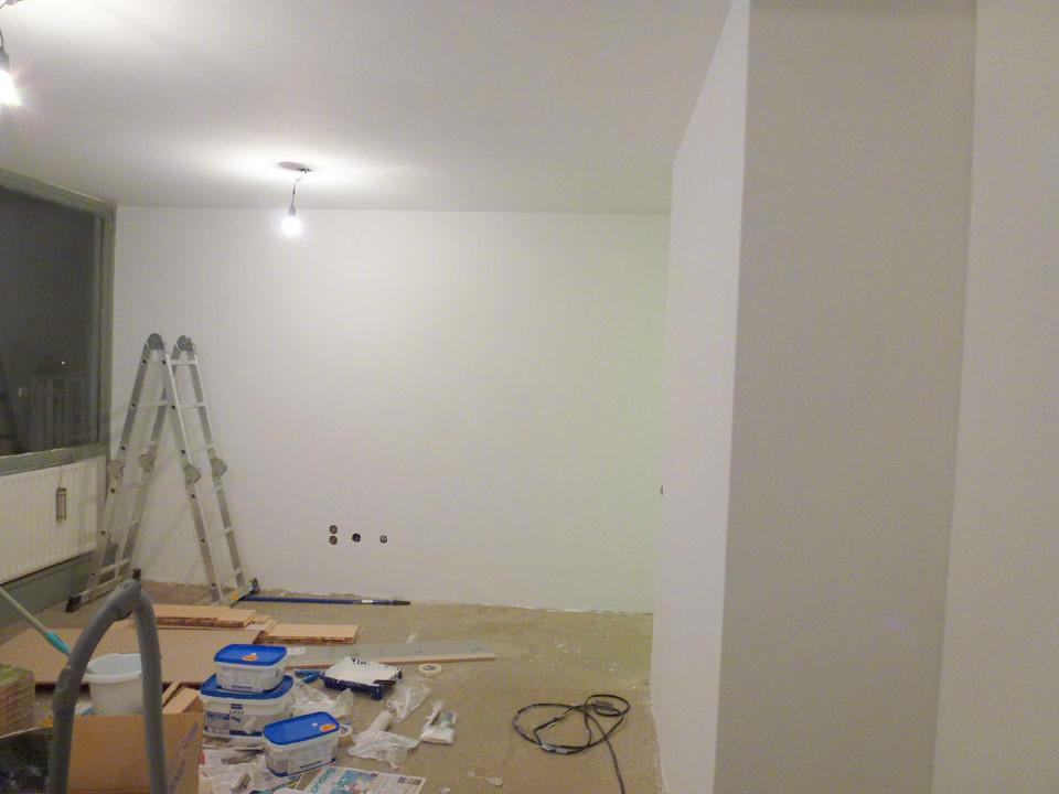 Complete Woon Eetkamer.Verbouwing Venuslaan Witten Woon Eetkamer