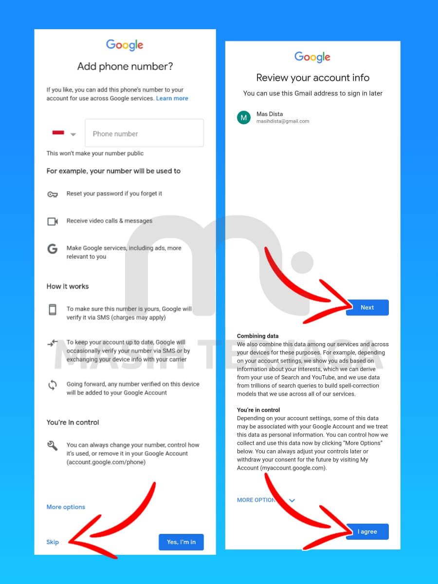 cara membuat email tanpa verifikasi nomor hp