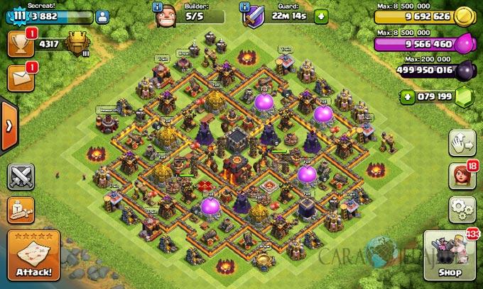 Desain Base Pertahanan Terbaik Untuk Base War TH 10 Update Terbaru 7