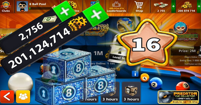 8 ball pool coins 200 Million level 16 Legendary cue 20 of 20
