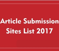 Top 100 Article Submission Sites High PR 2017