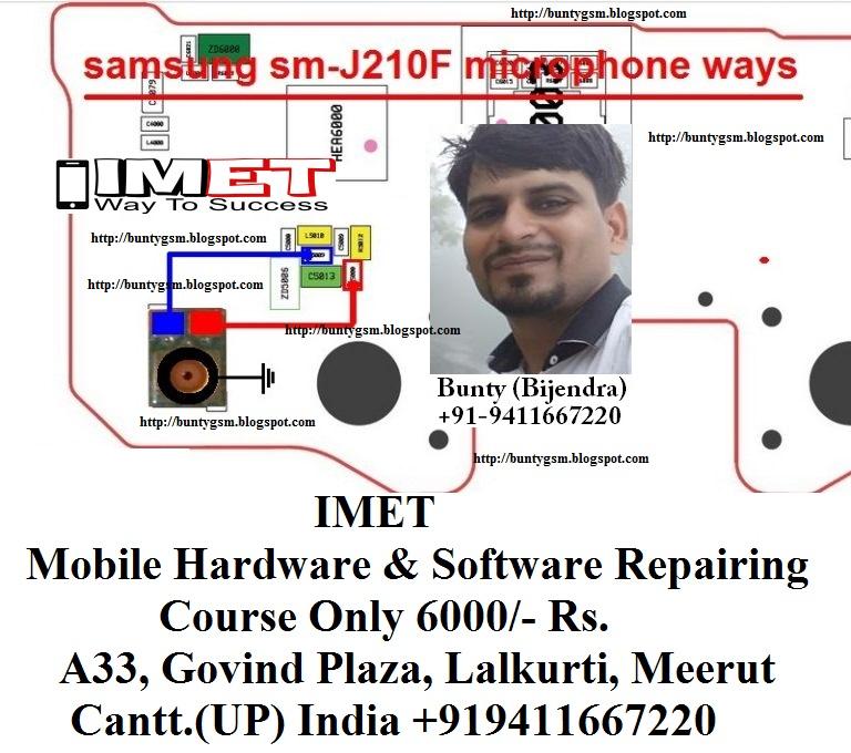 Samsung Galaxy J2 J210F Mic Problem Solution Jumper Ways - IMET