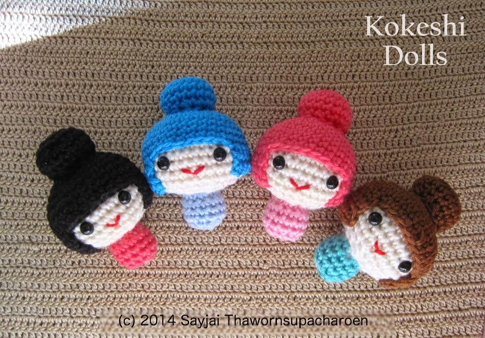 Amigurumi Basic Doll : Amigurumi Kokeshi Dolls - Sayjai Amigurumi Crochet ...