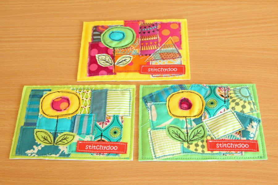 stitchydoo: Tutorial zum Nähen von Stoffkarten | amc fabric cards