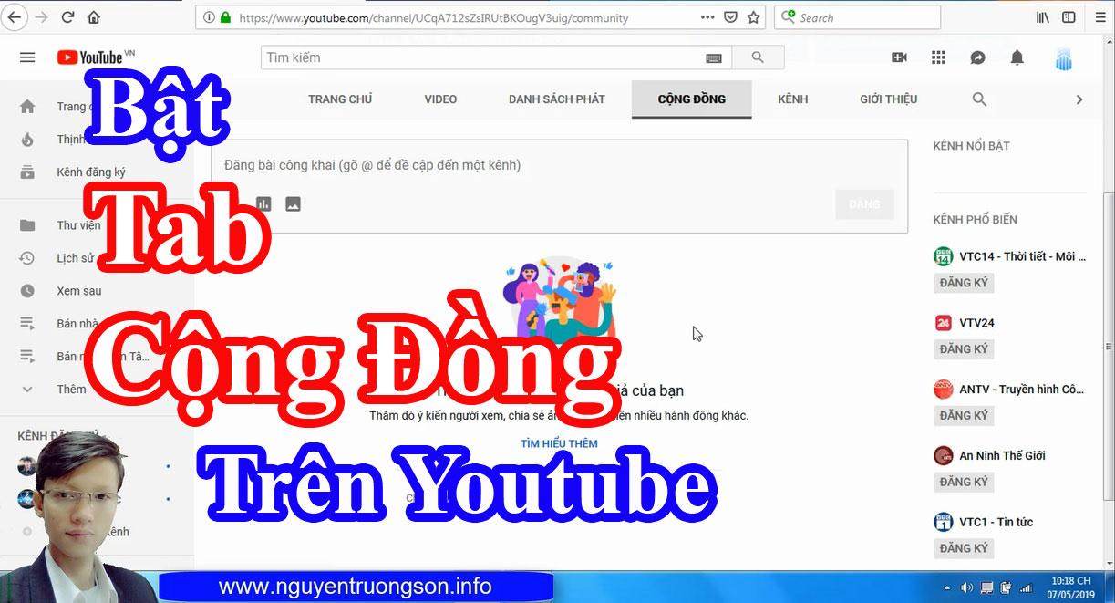 Tab Cộng Đồng Youtube Là Gì? Cách Tạo Tab Cộng Đồng Trên Youtube 2019