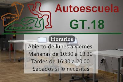 Horarios de Autoescuela GT.18 en El Puig