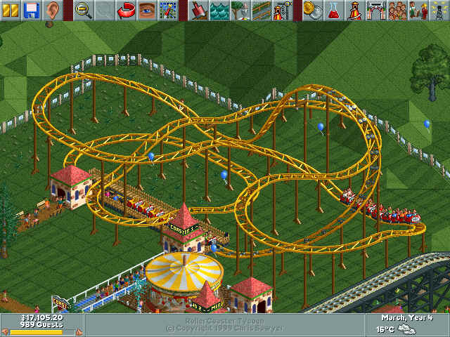 Flashback Friday--Rollercoaster Tycoon Deluxe - The Newest Rant