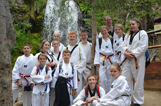 A group of martial arts kids having fun