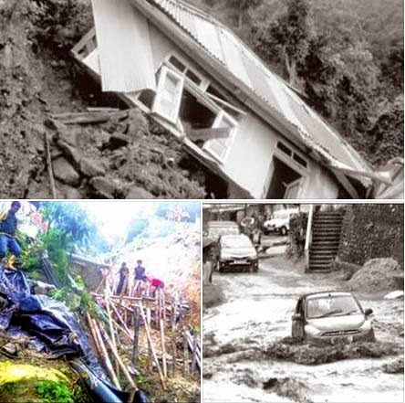 Heavy Rain Causes Massive Damage Across the Darjeeling Hills
