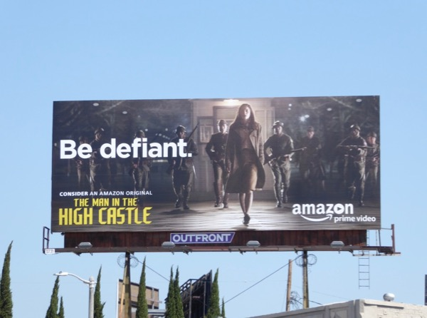 Man in High Castle season 2 Be Defiant Emmy billboard
