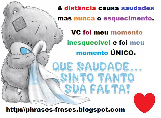 """#FRASES #QUOTES #TEXTOS ♥ ♥: Frases """" A Distância Causa"""
