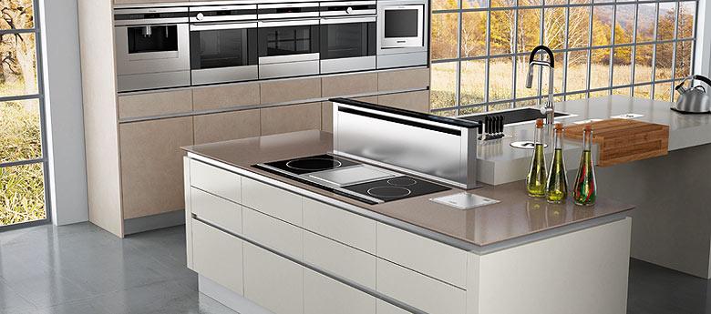 Elegante cocina de acabado porcel nico cocinas con estilo - Muebles cocina forlady ...