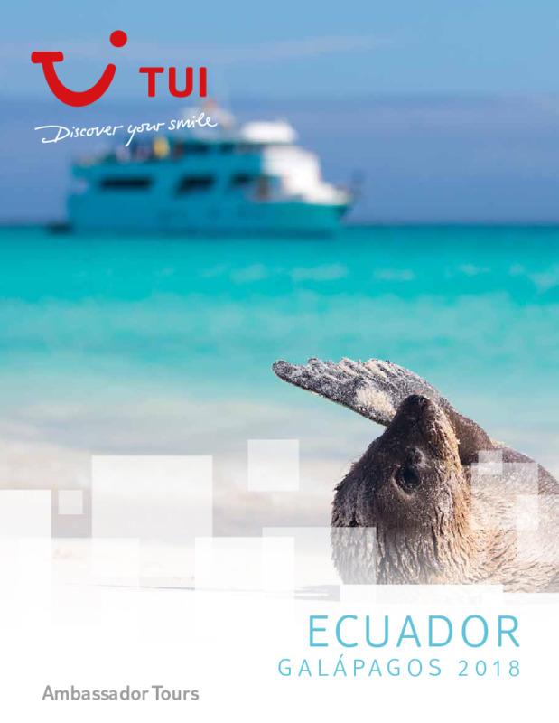 Catálogo TUI Ambassador Circuitos Ecuador 2018-19