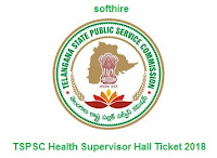 TSPSC Health Supervisor Hall Ticket