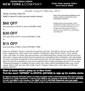 New York And Company coupons february
