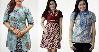 Batik model gaun, cocok untuk wanita gemuk